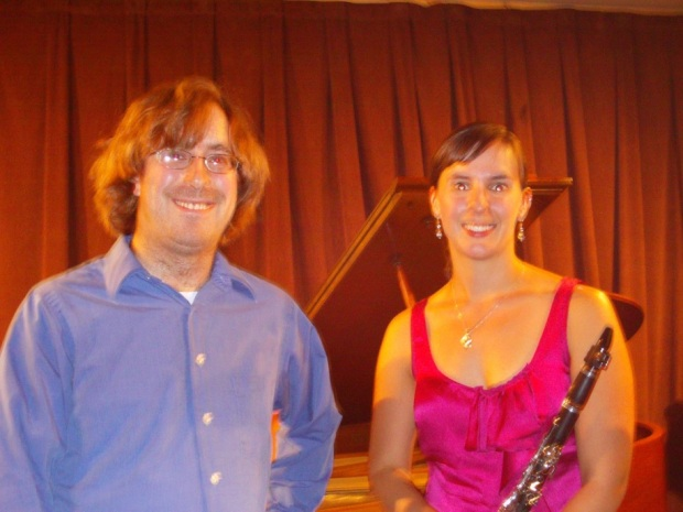 After a performance with the Brooklyn New Music Collective, The Firehouse Space, Brooklyn, NY with Maria Wagner, clarinet