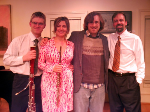 with the Aurea Silva Trio in Kerrytown Concert House after the premiere of Variations