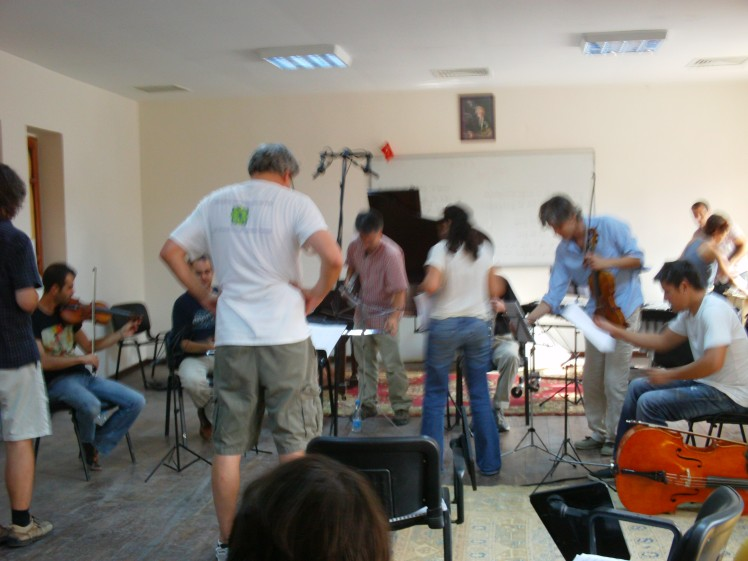 new music reading session  at Klasik Keyifler in Kapadokya, Turkey