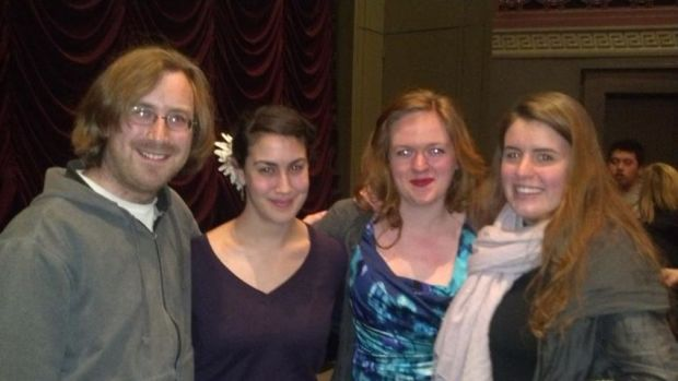 with the filmmakers and leading actress of Resonance, premiered March 2012 at DoubleExposure. From left: Ezra Donner, Sahar Pastel-Daneshgar, Lauren Lucas, Molly Rose